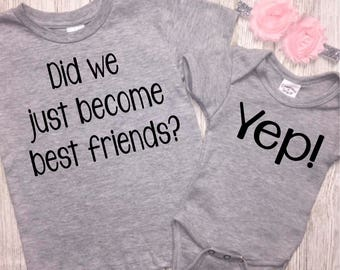 Sibling Shirt Set | Big Brother Little Sister | Matching Best Friends Shirts | Brothers | Sisters | BFF | Did We Just Become Best Friends?