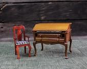 Mid Century Wooden Doll Furniture