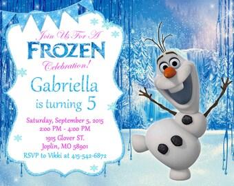Olaf invitation etsy frozen olaf invitation birthday frozen olaf party filmwisefo