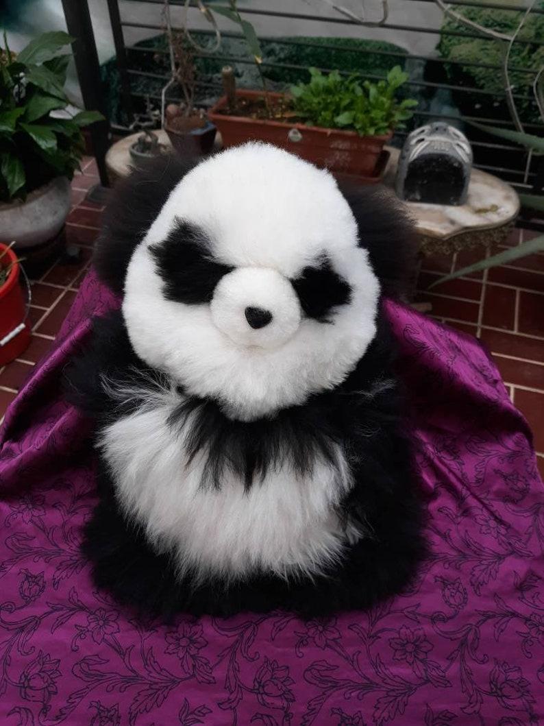 100 /% Baby Alpaca Panda Bear plush toy bears alpaca llama alpaca  plush alpaca panda bear baby alpaca panda bear 16 inches tall or 41cm