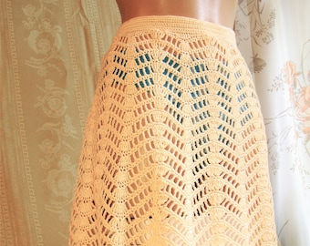 Crochet Skirt Etsy