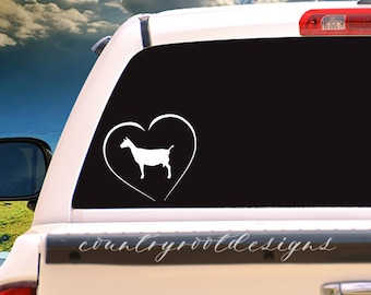 Heart Decal, Dairy Goat Decal, Love Decal, Tumbler Decal, Stock Show Life, Livestock Decal, Livestock Brand, Farmer, Valentine's Day, Goat