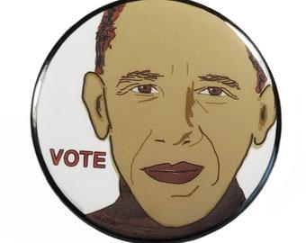 Barack Obama Vote Pinback Button