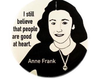 Anne Frank Pinback Button