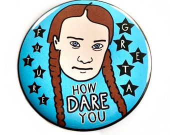 Greta Thunberg Climate Activist Pinback Button