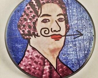 Salvador Dali Surrealist Pin Back Button