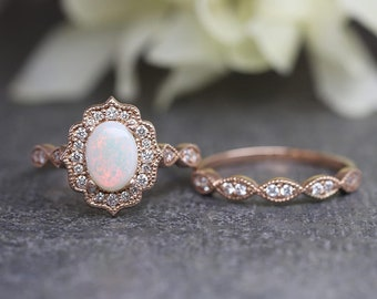 Opal Wedding Band.Opal Wedding Ring Etsy