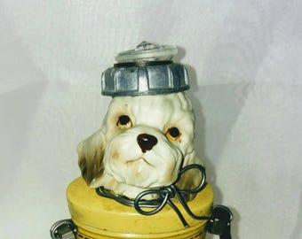 Steampunk Dog,Boy  POODLE, Assemblage Art, Junk Parts, Advertising Tin, Whimsical Decor, Dog Art