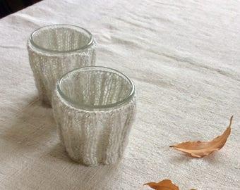 Liquor glasses with tricot dress