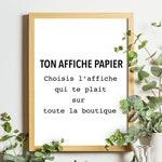 VERSION PAPIER Poster A4 'shop launch offer'