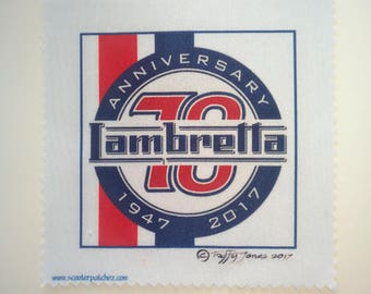 Lambretta Scooter 70th Anniversary Sew on Patch
