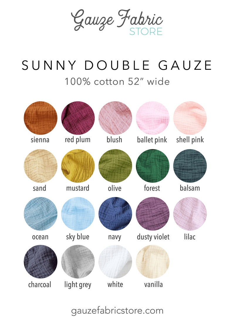 Cotton Muslin Fabric  half yard cut continuously  Sunny image 0
