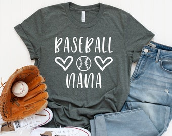 18e0aefa4 Baseball Nana T-Shirt - Baseball Nana Shirt - Custom Baseball Shirts -  Baseball Family Shirts - Nana T-shirts - Nana Gift