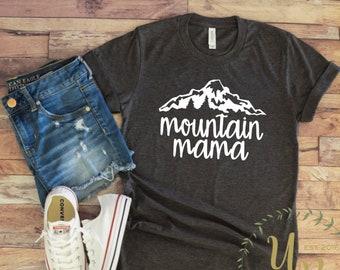 0807a1c58 Mountain Mama Unisex T-shirt - Mountain Shirts for Women - Mountain  Vacation Shirts - Ski Shirts - Mom Vacation Shirts