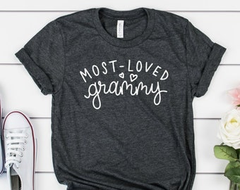 a4d9bfde Most Loved Grammy T-shirt - Grammy Shirts - Grammy Gifts - Grammy Stuff -  Grammy Christmas Gift - Cute Grammy Shirts