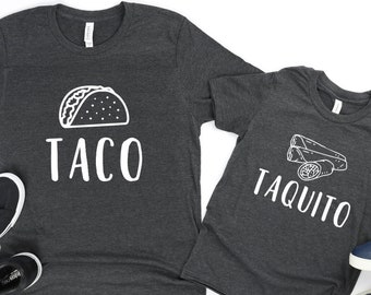 27875312 Taco Taquito Father Son Matching T-Shirts - Dad Shirts - Funny Dad Shirts -  Father's Day Gifts