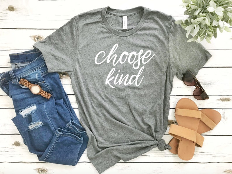 8914adf212d Choose Kind Deep Heather Grey T-shirt Be Kind Shirts