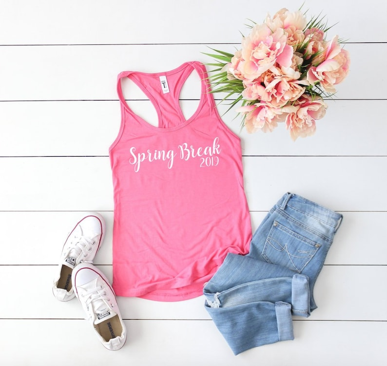4690bc24f2571 Spring Break 2019 Women s Fit Racerback Tank Tops Spring