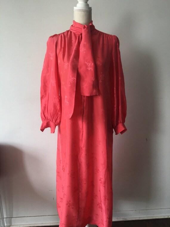 Silk Bow Tie Dress
