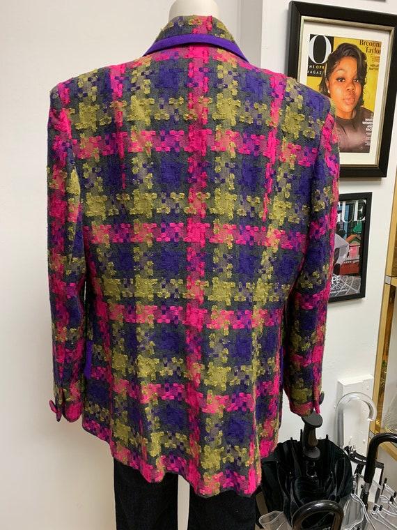 Lilli Ann Oversized Colorful Blazer - image 5