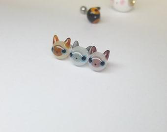 Siamese cat Glass Piercing by urinamu(glasstree)