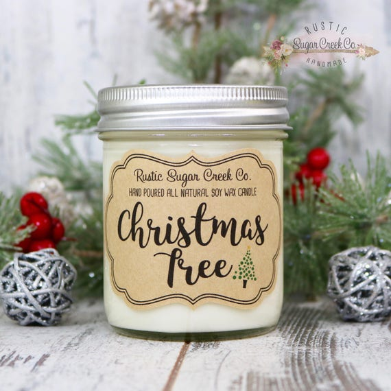 christmas tree scented candle candles christmas candles