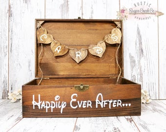 Happily Ever After Card Box, Wedding Card Box, Wedding Cards, Happily Ever After, Wedding Keepsake Box, Wedding Box, Rustic Wedding, Cards