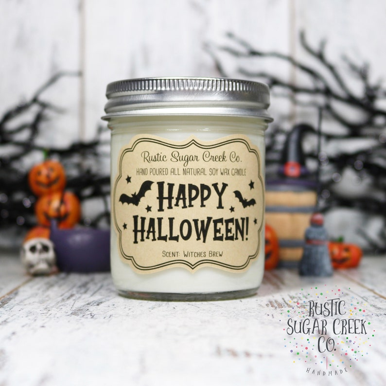 Spooky Candle Witch Decor Halloween Candles Halloween Decor Happy Halloween Candle Halloween Gifts