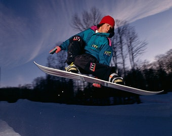 Noah Brandon  90's Snowboarding Sunset 18x24 Jon Foster Photo archival photographic print