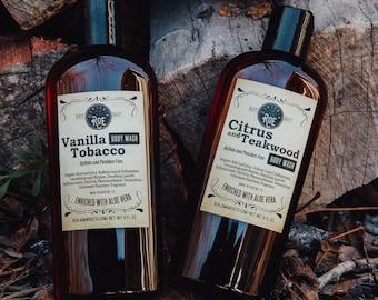 2 Pack | Organic Shower Gel | Moisturizing Body Wash | Aloe Vera and Natural Glycerin - Paraben and Sulfate Free Shower Gel - 8 Oz Bottle