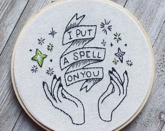 PDF Download Hocus Pocus Embroidery Pattern