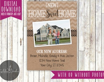 Moving Announcement, New Home, We've Moved, Photo - Printable DIY