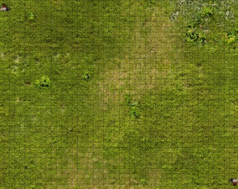 Grass Themed 1 inch grid tabletop rpg mats (available in different sizes and costs)