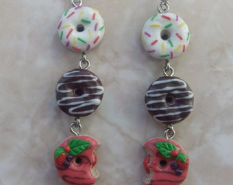 earrings donuts