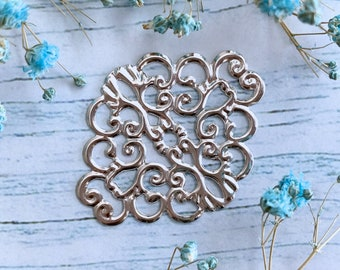 10pc 8741140003651 findings connectors Metal Bronze quality Butterfly filigree 17mm