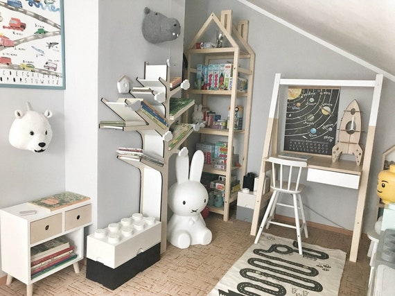 TREE BOOKSHELF Tree Shelf Bookcase Wooden Bookshelf