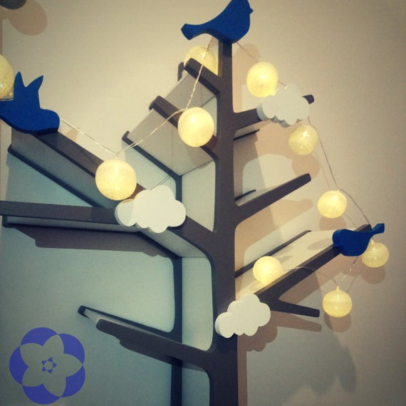 Bücherregal Regale - Regale Kinderzimmer - Regale für Kinder - Baum  Bücherregal - Baum - Regale Baum - Holz Vögel - Baum Bücherregal -  Wandregale