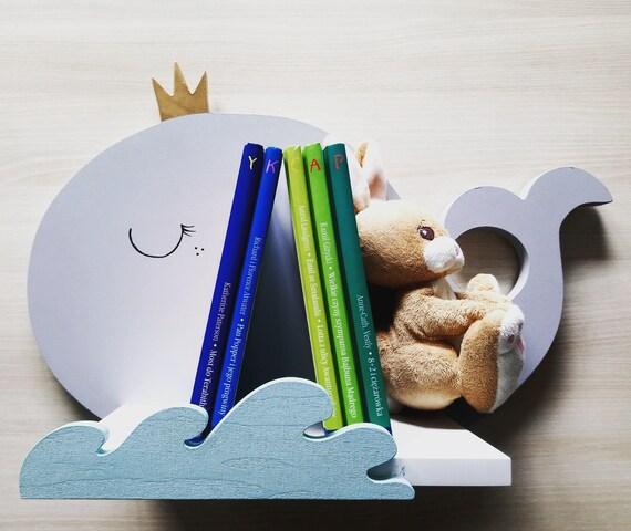 Wal - Regale Kinderzimmer - Regale für Kinder - Wal Regale - Regal - Ablage  für Baby - original Regal - hölzernes Regal - Regal für Kinder