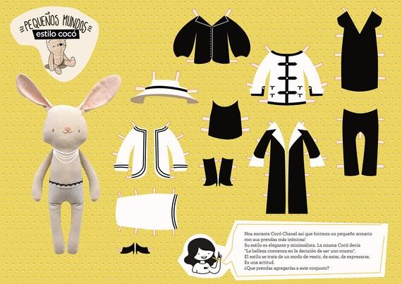 Muñecas Para Vestir Estilo Cocó Chanel Paper Dolls Printable