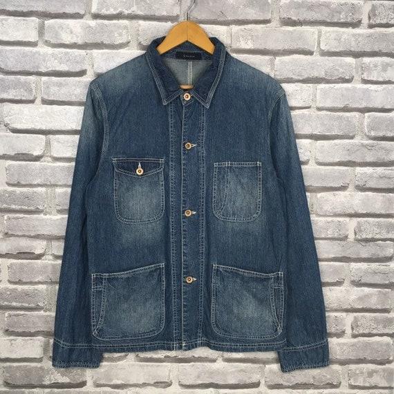 Vintage RAGEBLUE Japanese Brand Denim Chore Jacket