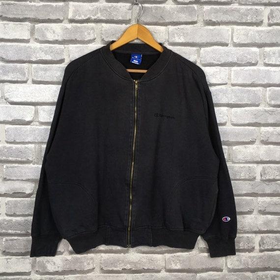 Vintage 90s CHAMPION Sweatshirt Zipper Up Distress