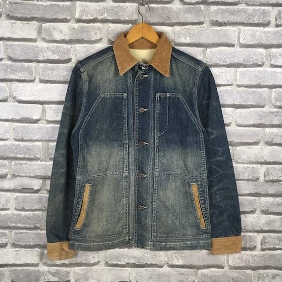 Rare Japanese Brand TAKEO KIKUCHI Denim Jeans Jack