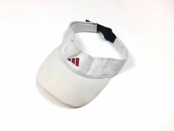 ADIDAS THREE STRIPED Cap Visor Sun Hats Big Logo w