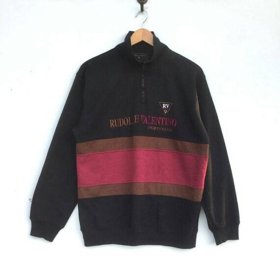 Vintage Rudolph Valentino Fashion Designer Sweatshirt With Etsy