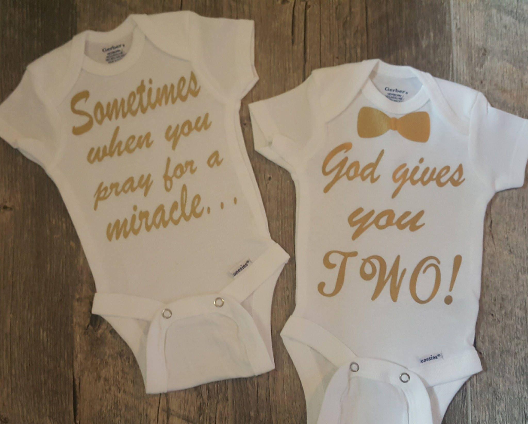a3c856904 Twins Twin Girls Twin Boys Girl and Boy Onesie Set....Super
