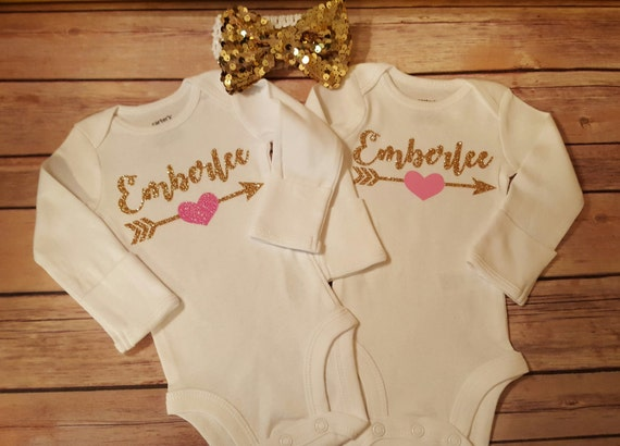 3cd24590f ... Personalized Monogramed Baby Girl Onesie, Perfect for Coming Home or  Baby Shower, Pink and