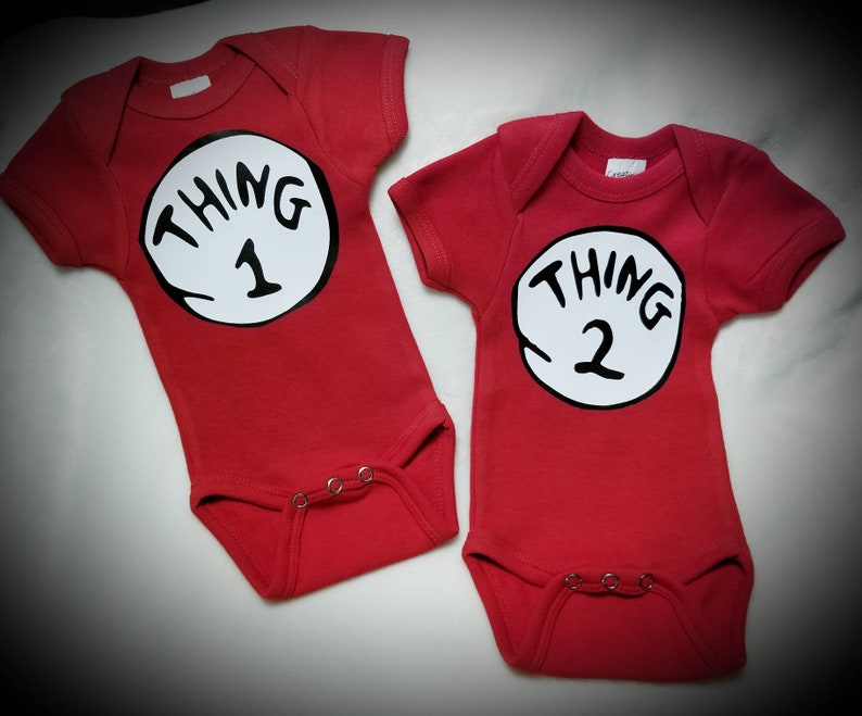 63b1301d0 Twins Thing 1 Thing 2 Twin Thing Thing Onesie or Tees   Etsy