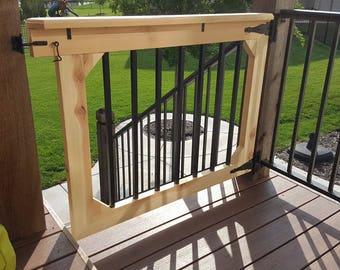 Deck Gate // Patio Gate // Garden Gate // Pet Gate // Dog Gate // Baby Gate  // Handmade // Wooden //