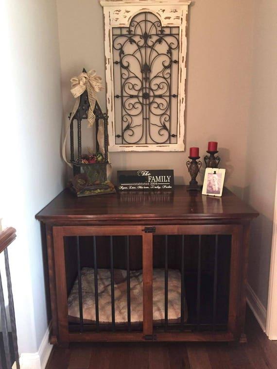 Dog Crate Dog Bed Pet Bed Wood Kennel Pet Furniture   Etsy