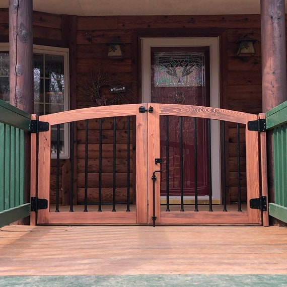 Outdoor Double Arched Baby Gate And Dog, Outdoor Pet Gate For Porch